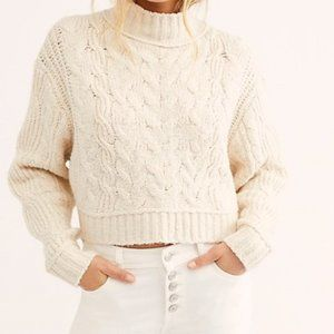 Free People Merry Go Sweater- Ivory